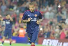DANIEL ALVES FC BARCELONE Royaltyfri Bild
