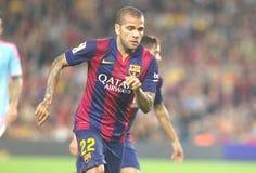 DANIEL ALVES FC BARCELONE Stockfotografie
