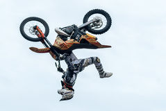 Daniel Bodin carries out a trick. Tyumen. Russia Royalty Free Stock Photo