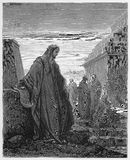 Daniel from the Book of Daniel. Picture from The Holy Scriptures, Old and New Testaments books collection published in 1885, Stuttgart-Germany. Drawings by Royalty Free Stock Photo