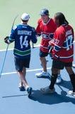 Daniel Briere, George Laraque, Burrows en Rogers Cup 2013 Foto de archivo libre de regalías