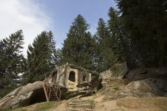 Daniel a caverna de Hermit's imagem de stock