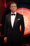 Daniel Craig as the agent 007 James Bond wax statue. Waxwork statue of Daniel Craig as the agent 007 James Bond in the Madame Tussauds Museum from Amsterdam stock photography