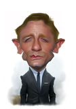 Daniel Craig Caricature Portrait Stock Photos