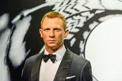 Daniel Craig figurka Przy Madame Tussauds Nawoskujący Muzeum Obrazy Royalty Free