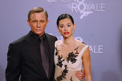 Daniel Craig with girlfriend Satsuki Mitchell Royalty Free Stock Photography