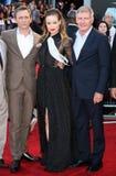 Daniel Craig,Harrison Ford,Olivia Wilde Stock Images