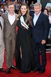 Daniel Craig,Harrison Ford,Olivia Wilde Stock Photography