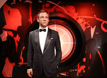 Daniel Craig. Daniel Craig in the Madame Tussauds museum. Madam Tussaud attraction, many tourists looking for it in Amsterdam. Place an unforgettable holiday! stock image