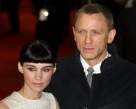 Daniel Craig, Rooney, Rooney Mara Royalty Free Stock Photography