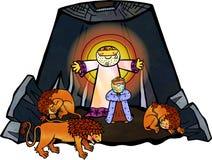 Daniel dans le repaire de lions illustration libre de droits