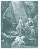 Daniel en el bosquejo de la guarida de los leones Imágenes de archivo libres de regalías
