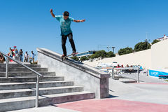 Daniel Ferreira during the DC Skate Challenge Stock Images