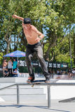Daniel Ferreira during the DC Skate Challenge Royalty Free Stock Photo