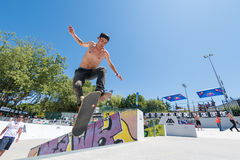 Daniel Ferreira during the DC Skate Challenge Royalty Free Stock Images