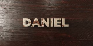 Daniel - grungy wooden headline on Maple  - 3D rendered royalty free stock image Royalty Free Stock Images
