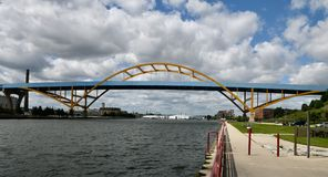 Daniel Hoan Memorial Bridge images libres de droits