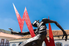 Daniel Hourde's Sculpture in Ouro Preto, Brazil.  royalty free stock image