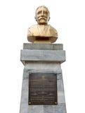 Daniel Hudson Burnham Statue sur le fond blanc Photos stock