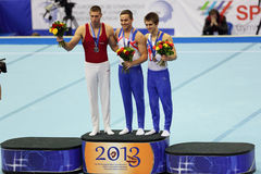 Daniel Keatings, Krisztian Berk and Max Whitlock Royalty Free Stock Image