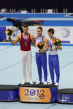 Daniel Keatings, Krisztian Berki and Max Whitlock Royalty Free Stock Image
