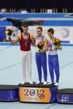 Daniel Keatings, Krisztian Berki and Max Whitlock Royalty Free Stock Image