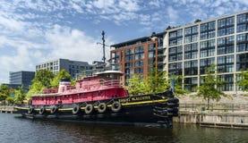Daniel McAllister-Schlepperboot Stockfoto