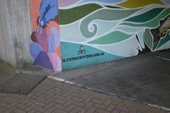 Daniel McCarthy-` s Wandgemälde in Croydon Stockbild