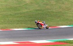Daniel Pedrosa op Officieel Honda Repsol MotoGP Stock Foto's