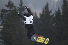 Daniel Porkert - slopestyle Arkivfoto