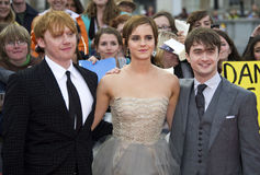 Daniel Radcliff,Daniel Radcliffe,Emma Watson,Rupert Grint Royalty Free Stock Photos