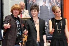 Daniel Radcliffe, Emma Watson, Rupert Grint Imagem de Stock