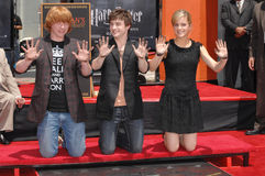 Daniel Radcliffe, Emma Watson, Rupert Grint Royalty Free Stock Images