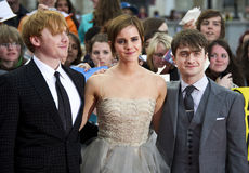 Daniel Radcliffe,Emma Watson,Rupert Grint,Daniel Radcliff Royalty Free Stock Images