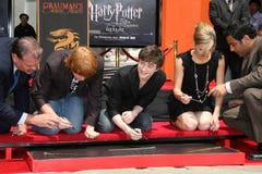Daniel Radcliffe,Emma Watson,Rupert Grint,Daniel Radcliff Royalty Free Stock Photos