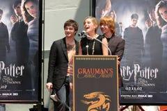 Daniel Radcliffe,Emma Watson,Rupert Grint,Daniel Radcliff Stock Images