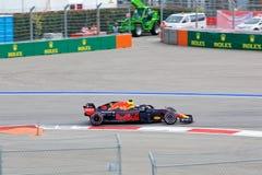 Daniel Ricciardo of Aston Martin Red Bull Racing. Formula One. Sochi Russia. Sochi, Russia - September 30, 2018: Daniel Ricciardo of Aston Martin Red Bull stock photo
