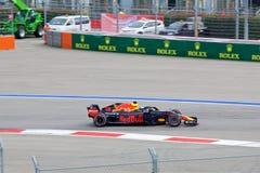 Daniel Ricciardo of Aston Martin Red Bull Racing. Formula One. Sochi Russia. Sochi, Russia - September 30, 2018: Daniel Ricciardo of Aston Martin Red Bull stock images