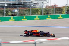 Daniel Ricciardo of Aston Martin Red Bull Racing. Formula One. Sochi Russia. Sochi, Russia - September 30, 2018: Daniel Ricciardo of Aston Martin Red Bull royalty free stock image