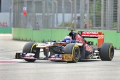 Daniel Ricciardo racing in F1 Singapore GP Stock Images