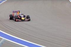 Daniel Ricciardo. Red Bull Racing. Formula One. Sochi Russia. Sochi, Russia - OCTOBER 11, 2015: Daniel Ricciardo of Red Bull Racing F1 team racing at the race of Stock Photography