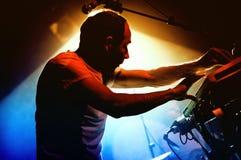 Daniel Snaith, frontman of Caribou, performs at Discotheque Razzmatazz. BARCELONA - DEC 12: Daniel Snaith, frontman of Caribou, performs at Discotheque Royalty Free Stock Photos