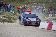 Daniel Sordo Hyundai Motorsport Arkivbild