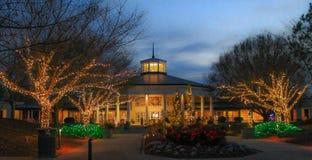 Daniel Stowe Botanical - Kerstmis 1 Stock Fotografie