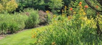 Daniel Stowe Garden 3. Walking trails and gardens at the Daniel Stowe Botanical Garden in Belmont NC stock image