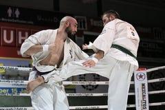 Daniel Tempera versus Pavel Pilny Royalty-vrije Stock Fotografie