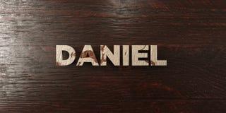 Daniel - titre en bois sale sur l'érable - image courante gratuite de redevance rendue par 3D Images libres de droits