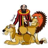 Daniel und Löwen. Stockfoto