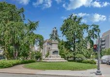 Daniel Webster Statue en el parque de Maryland Imagenes de archivo