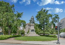 Daniel Webster Statue en parc du Maryland Images stock